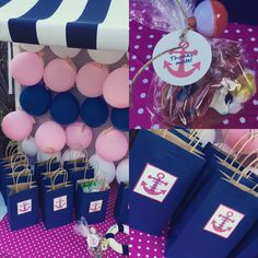 Nautical girl and boy birthday #pinkandnavy