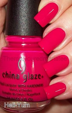 China Glaze Heli-Yum, dark cherry pink