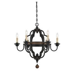 Hokku Designs Allocca 6 Light Candle Chandelier