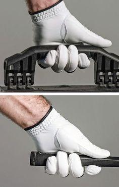 A good grip helps produce longer, straighter shots Golf Tiger Woods, Woods Golf, Golf Club Sets, Golf Clubs, Golf Club Grips, Golf Trolley, Classic Golf, Golf Instruction, Golf Tips For Beginners