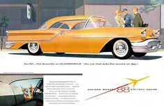1957 Oldsmobile Golden Rocket 88 Holiday Coupe