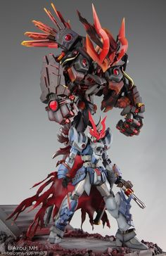 The Devil King of the Sixth Heaven - Diorama Build Modeled by Airou_MH Gundam Toys, Gundam Art, Gurren Laggan, Mecha Suit, Gundam Astray, Gundam Wallpapers, Arte Cyberpunk, Gundam Custom Build, Cool Robots