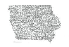 Iowa Illustration by AEMdesignsByAlex on Etsy