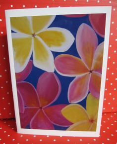 Any Occasion Card - Photo of our painting of Frangipani