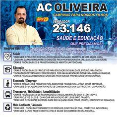 Sou Candidato a Vereador de Campinas, tenho as seguintes Propostas:    Conheça todas as minhas propostas:  Candidato a Vereador na Cidade de...