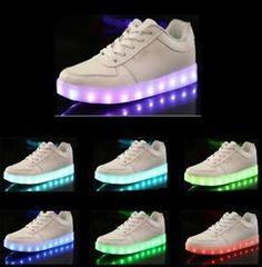 Unisex-LED-Light-Shoelace-Up-Casual-Sportswear-Luminous-Sneaker-Shoes-White
