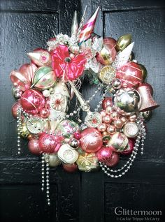 Pink Parfait Wreath ©Glittermoon Vintage Christmas 2013