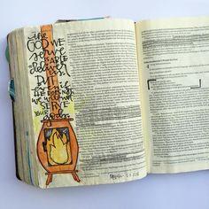 Scripture Art, Bible Art, Bible Verses, Scriptures, Cute Bibles, Bible Study Journal, Art Journaling, 1 Chronicles, New Bible