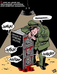 por Latuff. Ditadura no Brasil
