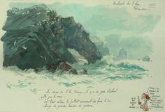 Watercolor Sea, Watercolor Sketch, Watercolor Paintings, Urban Sketchers, Illustrations, Art Sketches, Blog, My Arts, 1