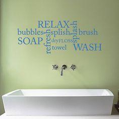 Bathroom Word Cloud Wall Sticker