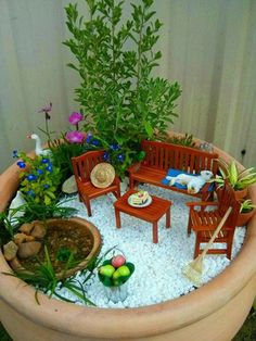 MORE Entries for The Great Annual Miniature Garden Contest! The Entries for The Great Annual Miniature Garden Contest Whew! We received a total of 63 entries for this year's Great Annual Miniature Garden Contest from all over the world. Indoor Fairy Gardens, Mini Fairy Garden, Fairy Garden Houses, Miniature Fairy Gardens, Fairies Garden, Garden Terrarium, Succulents Garden, Terrarium Jar, Succulent Planters