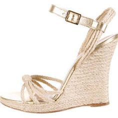 Michael Kors Raffia Wedge Sandals - Neutrals 8 Michael Kors Sandals