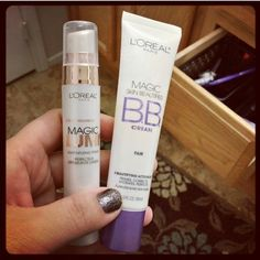 Highly recommend these for light coverage, looks natural, not cakey! Leaves a fresh, matt finish to skin. Feels great on skin. I have sensitive oily skin and these two make my skin look healthy, picture perfect. I love this stuff!! #LOREAL L'OREAL MAGIC SKIN BEAUTIFIER BB CREAM sells for about $7.99 at Target, L'OREAL MAGIC LUMI Light Infusing PRIMER sells for about $9.99 at Target. #Target #makeup #productreview