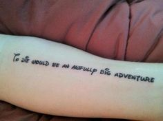Heck yes ! Peter pan tattoo ! This is so what I want . I finally know what my first tattoo will be