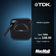 Save 18% on a TDK wireless speaker at MacMall.