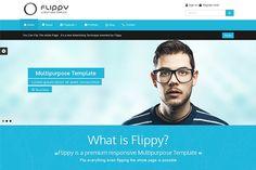 Flippy-Creative Responsive Template by webyzona on @creativemarket