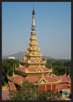 The Great Audience Hall of the Royal Palace, #Mandalay. Myanmar (Burma)