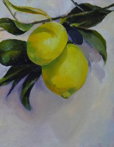 """Una pintura al día: """"Limones en Rama"""""""