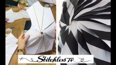 Origami spiral bodice pattern