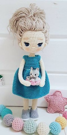 Free Amigurumi Crochet Doll Pattern and Design ideas – Page 8 of 37 – Daily Crochet! Free Amigurumi Crochet Doll Pattern and Design ideas – Page 8 of 37 – Daily Crochet! Free cute amigurumi patterns 25 amazing crochet ideas for beginners to make e Crochet Dolls Free Patterns, Crochet Motifs, Afghan Crochet Patterns, Dress Patterns, Crochet Patterns Amigurumi, Amigurumi Doll, Crochet Toys, Crochet Beanie, Crochet Animals