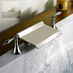 Shop Kokols USA Brushed Nickel 2-Handle Fixed Deck Mount Bathtub Faucet at Lowes.com