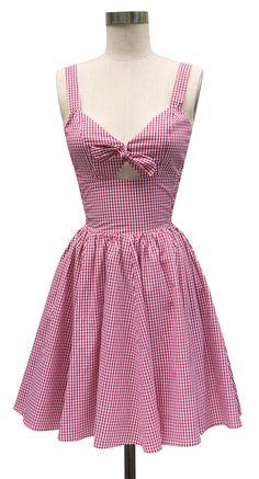 Gingham! Trashy Diva Hottie Mini Dress | Retro Inspired Dress | Red Gingham