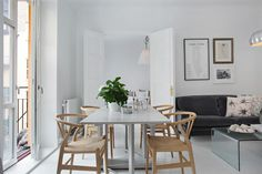 my scandinavian home: Stockholm; white, grey and dusty pink