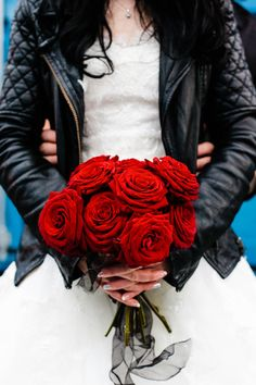 badass. A Leather jacket is a must to wear in at least a few of my Wedding photos.