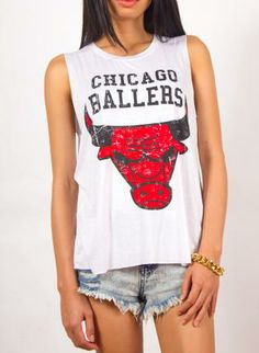 "UsTrendy ""Chicago Ballers"" Girls' Muscle Tank Top #trendy #sporty #baller"