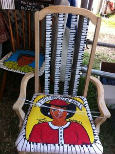Some beautiful hand painted chairs from Jazz Fest 2012.  I want to try and make something like this.  Wish me luck!