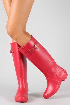 Rain, Rain Go Away Boots - Red