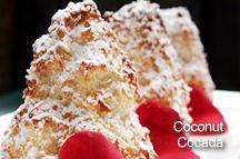 Coconut cocada-looks like the Matterhorn!