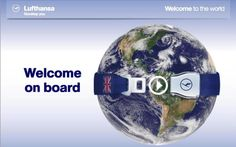 WELCOME ON BOARD WITH LUFTHANSA
