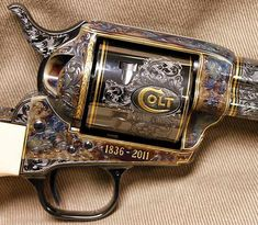 The Colt logo on the action of the Anniversary Single Action Army revolver: