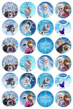 Frozen Themed Birthday Party, Disney Frozen Birthday, Disney Princess Frozen, Frozen Party, Frozen Cupcake Toppers, Frozen Cupcakes, Frozen Cake Topper, Images Disney, Rice Paper