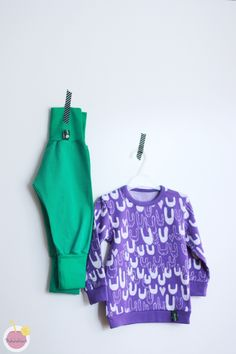 Bunny shirt from Muru desing jacquard organic cotton, pants sewed from Nosh organic cotton