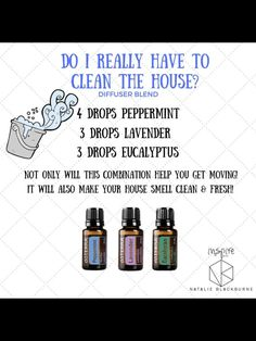 Motivation to Clean house ! Essential Oils 101, Essential Oil Diffuser Blends, Essential Oils For Laundry, Oil Mix, Doterra Oils, Aromatherapy Oils, Edens Garden Oils, Clean House, Doterra Motivate