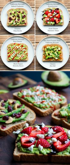 Spice up your avocado toasts Breakfast Recipes, Snack Recipes, Cooking Recipes, Healthy Snacks, Healthy Eating, Sandwiches, Vegetarian Recipes, Healthy Recipes, Bagels