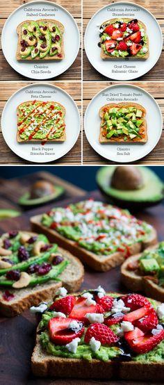 California Avocado Toasts