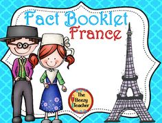 This fact booklet on France is a great resource to use for a research project on countries around the world/Europe with your pre-k/kindergarten class. Included in this product is a black and white informational book about France that can be used for independent reading as well as for guided reading groups.