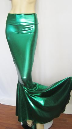 High Waist Emerald Green Metallic Mermaid by ZanzaDesignsClothing