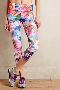 Bloomburst Leggings - anthropologie.com | Floral leggins