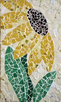 flower mosaic art   Mosaic Pique Assiette by Jenifer Strachan - Line Art Gallery