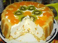 Tort cu sarlota si fructe - reteta fara coacere si pentru orice buzunar - SanatateInBucate.com
