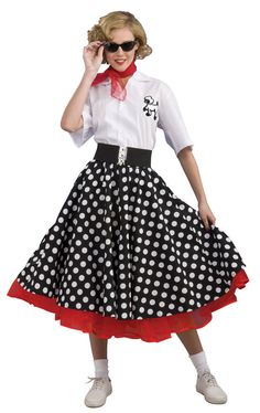 women in the 50's | grand heritage womens polka dot 50s costume 50s costumes this item is ...