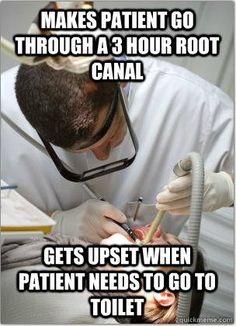 Root canals!  #Dentist #Dental Jokes #Hygienist #Dentaltown #Quotes #Orthodontist