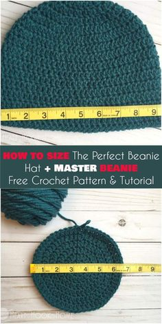 How To Size The Perfect Beanie Hat and Master Beanie [Free Crochet Pattern and Tutorial] Follow us for ONLY FREE crocheting patterns for Amigurumi, Toys, Afghans and many more!