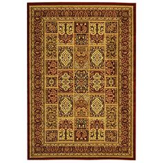 Safavieh Lyndhurst Collection LNH217B Multi and Red Area Rug 5 feet 3 inches by 7 feet 6 inches 53 x 76 >>> See this great product.