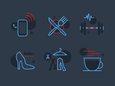 Shopping Icons Set by Gal Shir http://dribbble.com/galshir